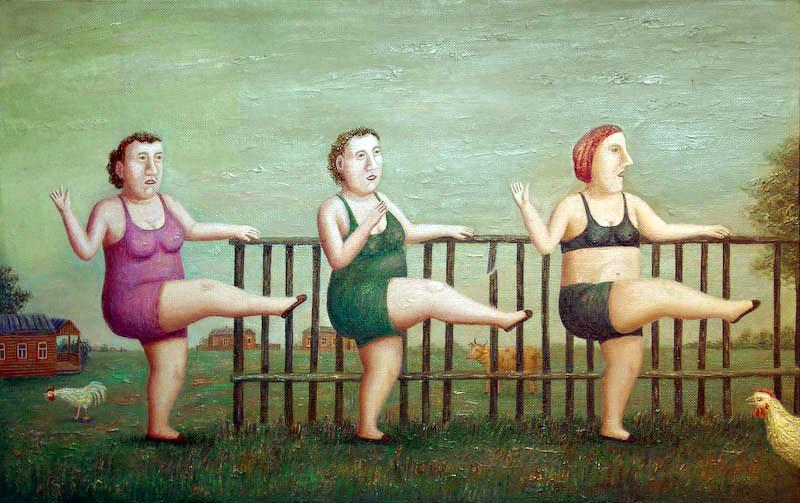 Толстушки занимаются фитнесом