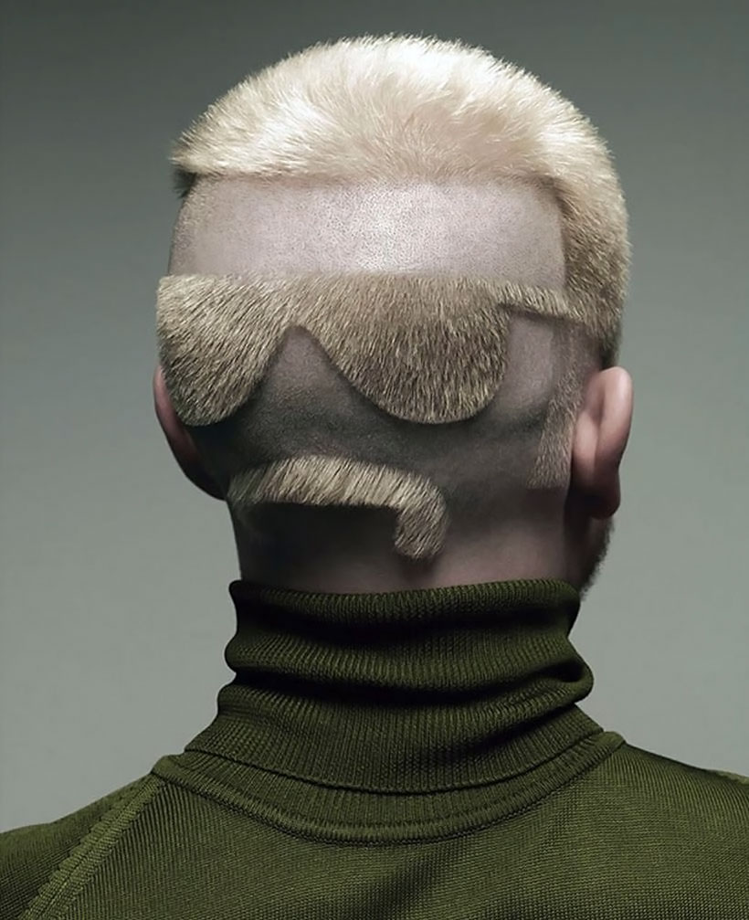 Странная причёска