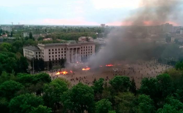 Огненная бойня в Одесском Доме Профсоюзов 2 мая 2014 года