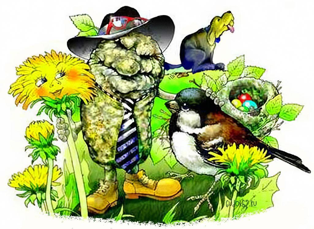 Какашка и весна, или Говно и Воробей